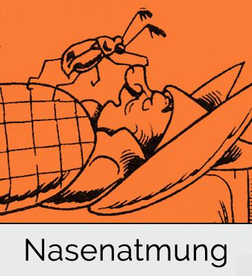 Behinderte Nasenatmung